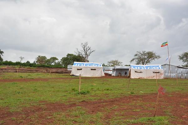 Reception area at Gure camp