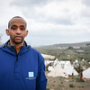 Protection officer Abdifatah Ahmedy is seconded from NRC´s emergency roster NORCAP to support UNHCR at Lesvos. He is working at Moria registration centre. Photo from outside the registration centre. Photo: Tiril Skarstein, NRC