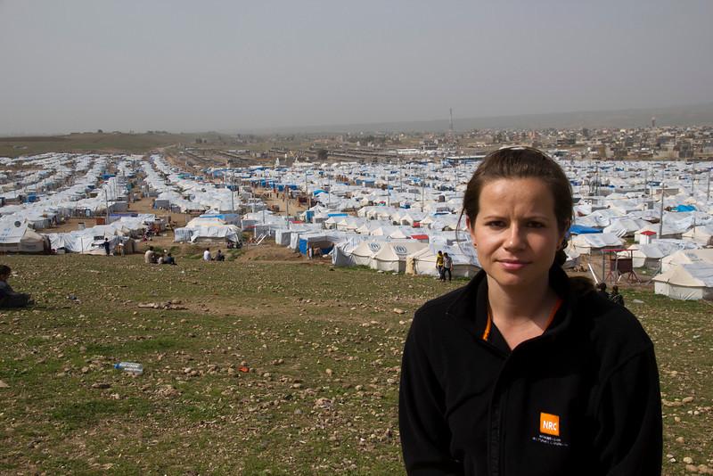 NRC's Program Director in Iraq, Rebecca Dibb. Photo Credit: NRC/Ingrid Prestetun