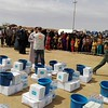 NRC is present in Anbar providing emergency aid to newly displaced families. NRC distributes  water, food, hygiene kits, buckets, baby kits, mattresses, pillows, rechargeable lights, cooler boxes, cooler cans, jerry cans and cover sheets. <br /> <br /> <br /> Photo: NRC/Iraq
