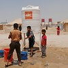NRC is present in Anbar distributing emergency water, food, hygiene kits and baby kits ti newly displaced families from areas such as Heet and Fallujah. Photo: NRC/Becky Bakr Abdulla