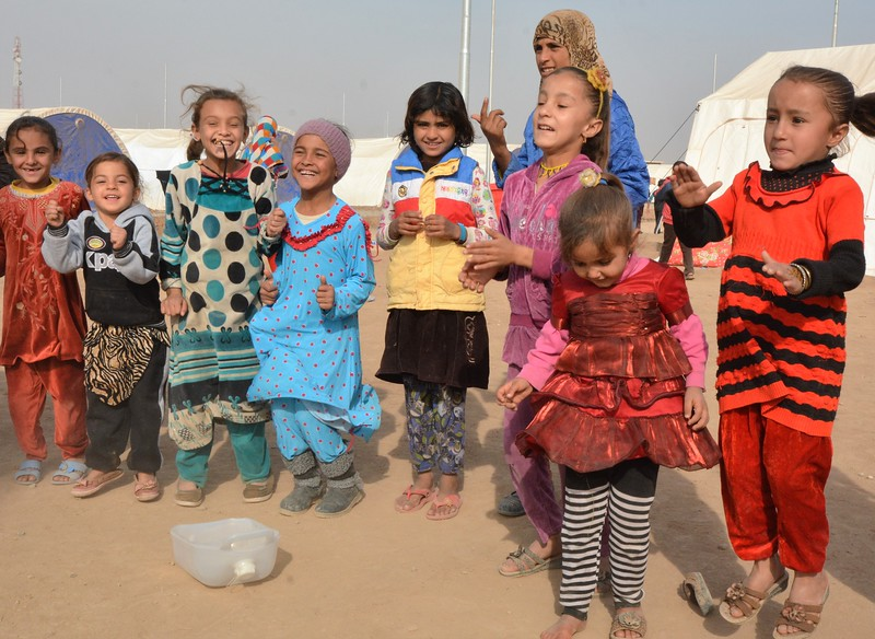 Khazer displacement site, 30 kilometres from Mosul