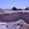 An open pit next to the only latrine on the camp. Photo; Karl Schembri/NRC