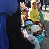 """Khazer camp, Hasansham, November 4, 2016:<br /> <br /> Woman, does not want to give her name. <br /> <br /> She has 11 children and is pregnant. She came from Gogjali yesterday (3. November) with a car. <br /> <br /> """"We did not sleep the last two nights before we came here. I had a good night sleep last night."""" <br /> <br /> """"The last weeks there was no water, no electricity, we only survived on bread.""""<br /> <br /> """"My husband used to work for TV, but he lost his job.""""<br /> <br /> """"We didn't have anything to give to our children"""". <br /> <br /> """"Before ISIS we used to live here in Hasansham, just over there, but they forced us to move to Mosul, they wanted us to live like a wall around them to protect them.""""<br /> <br /> She is glad that they are safe now. She wants her children to go back to school and her husband to get a job again. <br /> <br /> Photo: Alvhild Stromme/NRC"""