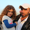 """U3 camp, Hasansham, November 4, 2016. <br /> <br /> Ammar from Gogjali and his daughter Akaber (7). <br /> <br /> """"Everything was difficult under ISIS, even when you tried to sleep, it was difficult to feel sleepy. There was no future, no life, no school, you don't know how to explain this all to the kids, they fought you for your clothes, they fought you for your faith, if you just sat in front of your house, they would ask you: 'What are you doing in front of you house?' There was no privacy. No mobile. No TV. That is not what I call a life."""" <br /> <br /> """"They are devils. They came like devils. From ideology hell.""""<br /> <br /> """"Imagine my daughter, she cannot read, she cannot write, she was supposed to be in 2nd grade by now. She never went to school.""""<br /> <br /> Photo: Alvhild Stromme/NRC"""