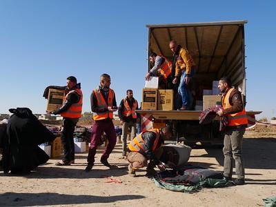 Hamam Ali, Shelter distribution. 6 December 2016