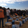 Khazer camp: NRC's Rapid Response Mechanism (RRM) team is delivering emergency supplies such as water bottles, food parcels and hygiene kits to displaced families from Mosul and surrounding areas. <br /> <br /> Date: 2 November 2016<br /> Photo: NRC/Sarhang Sherwany