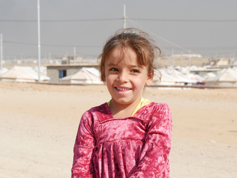 Asir Rahed Jumha (3) is an Iraqi internally displaced girl currently living in Debaga Camp. <br /> <br /> Date: 6 November 2016<br /> Photo: NRC/Sarhang Sherwany