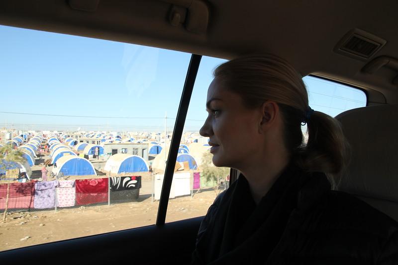 Marna arrives Debaga refugee camp