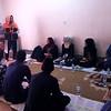 NRC staff giving an introduction on NRC's WASH program to members of the community. <br /> Location: Khalo Baziani village, Kirkuk.<br /> Date: 11 April 2016<br /> Photo: Hero Rashid