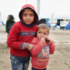 Brothers Razwan(2) and Salah(5), originally from Mosul, have been forced to leave everything behind. They now live in a displaced camp in Hamam al-Alil where NRC provides food, water and temporary accommodation.<br /> Date:16 March 2017<br /> Photo: Alan Ayubi