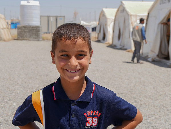 Ahmed Nowaf, a ten-year-old Iraqi displaced boy from Mosul at NRC's School Support Centre in Khazer camp.<br /> <br /> Date: 15 June 2017<br /> Photo: Sarhang Sherwany/NRC