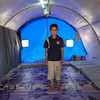 Ahmed Nowaf is a ten-year-old Iraqi displaced boy from Mosul who now lives with his family in a tent in Khazer camp.<br /> <br /> Date: 15 June 2017<br /> Photo: Sarhang Sherwany