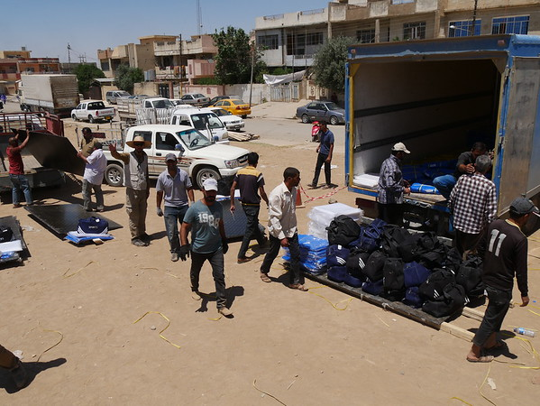 Distribution of shelter materials in Mosul