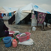 Newly displaced people from Mosul and surrounding areas in Hasan Sham camp where NRC is present providing emergency aid such as food parcels, water and hygiene kits in addition to school support and safe spaces for children. <br /> <br /> Photo: NRC/Hussein Amri