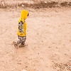A toddler walks through the mud in a camp accommodating people who arrived yesterday after fleeing fighting in Mosul.<br /> <br /> Date: 04 March 2017<br /> Photo: NRC/Melany Markham