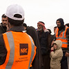 Staff from the Norwegian Refugee Council distribute essentials such as food, water, soap and towels to people who have recently fled fighting in Mosul.<br /> <br /> Date: 04 March 2017<br /> Photo: NRC/Melany Markham