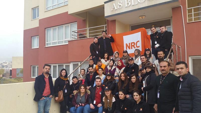 The NRC team in Sulaymaniya