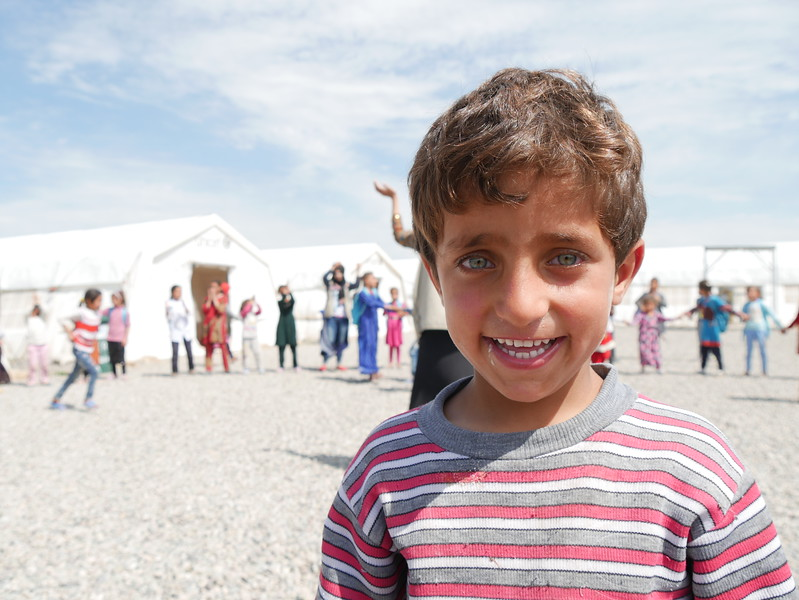 Qais Abid a four-year-old from Mosul who has been displaced to Hassan Sham. Qais meets many other internally displaced children from Mosul and Surrounding areas at NRC School Support Centre where they all can play together a safe place.<br /> <br /> Date: 6 April 2017<br /> Photo: Sarhang Sherwany/NRC