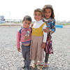 Friends Hussien (3), Azra (4) and Rahliff (5) at NRC's School Support Centre in Hassan Sham camp. <br /> <br /> Date: 6 Apri 2017<br /> Photo: Sarhang Sherwany/NRC