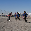 Iraqi children, who left everything behind in Mosul, play football at NRC's education center in Hassan Sham camp. <br /> <br /> Date: 12 January 2017<br /> Photo: Sarhang Sherwany/NRC
