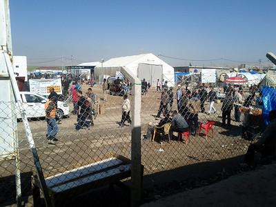 Domiz camp for syrian refugees