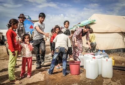 Domiz camp in Iraq