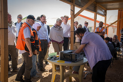 Visit by HRH Crown Prince Haakon and HRH Crown Princess Mette Marit to Zaatari