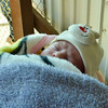 Little Hammod  was born in Azraq refugee camp 11 days ago, and came with his mother to a distribution of vouchers (November 17, 2015). <br /> <br /> Refugee families were given a 10JD voucher that can be spent on what the families need the most, such as clothes for winter.  Photo: NRC/Guri Romtveit