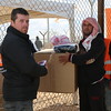 Sanitary pads, hygiene kit and scarfs distribution