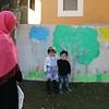 Lara*, 6 and her brother, 3, at NRC Education Centre,  Bekaa, Lebanon