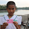 Su Myat Zaw (12) just got her ID-card from NRC .