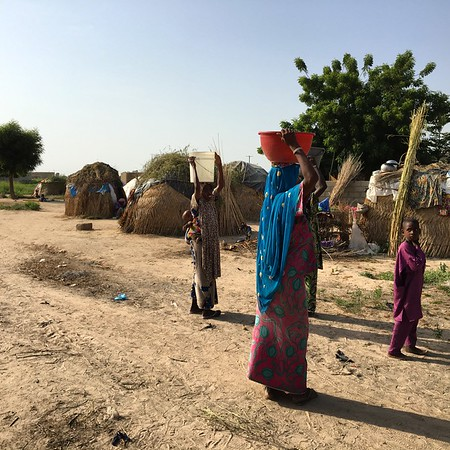 Informal settlement with internally displaced people from north eastern Nigeria, now living in Maiduguri.<br /> Photo: NRC/Siri Elverland