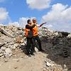 Jan Egeland's Field visit in Beit Hanoun, Gaza, Palestine , to see the destruction.  14 October 2014, photo: Emad Badwan