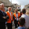 Jan Egeland's Field visit in Beit Hanoun, Gaza, Palestine , with Norway's representative to Palestine Mr. Hans Jacob Frydenlund, 14 October 2014, photo: Emad Badwan