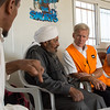 Secretary General Jan Egeland visits the Abu Nuwar Bedouin community close to Maale Adumim settlement. The community is threatened with displacement. Photo: Tiril Skarstein, NRC
