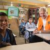 Secretary General Jan Egeland visits a school in the Khan al Ahmar bedouine community in the West Bank, Palestine. The school is threatened with demolition. Photo: Tiril Skarstein, NRC