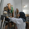 """Ameni Jabar Al Haddad, 34, is the head of physiotherapy at Gaza's only prosthetic clinic. She's been in this job for seven years in which she has dealt with casualties of three major escalations.""""We've had a war every two years; it's like a dreaded appointment now in which we expect anything to happen,"""" Ameni said. <br /> <br /> Photo: Karl Schembri/NRC"""