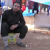 Video: Internally displaced Syrian man outside his tent in Alharameen informal camp.