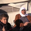 Video: Internally displaced Syrian woman and children at Alharameen informal camp.