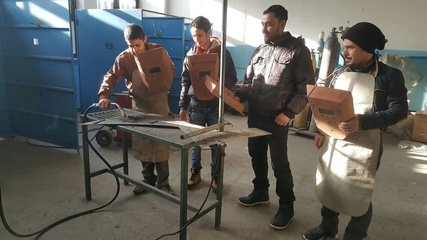 The students are trained in welding.