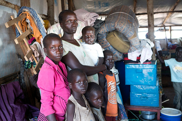 Increasing number of refugees to Adjumani district July/August 2016