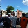 Livestock feed distribution in Krymske