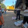 Livestock feed distribution in Muratove