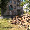 Firewood distribution in Popasna district