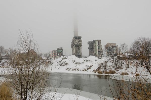 Alkali-works ruins (Lysychansk, Ukraine)