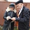 Olga with Shelter Engineer Oleksandr Prokopov