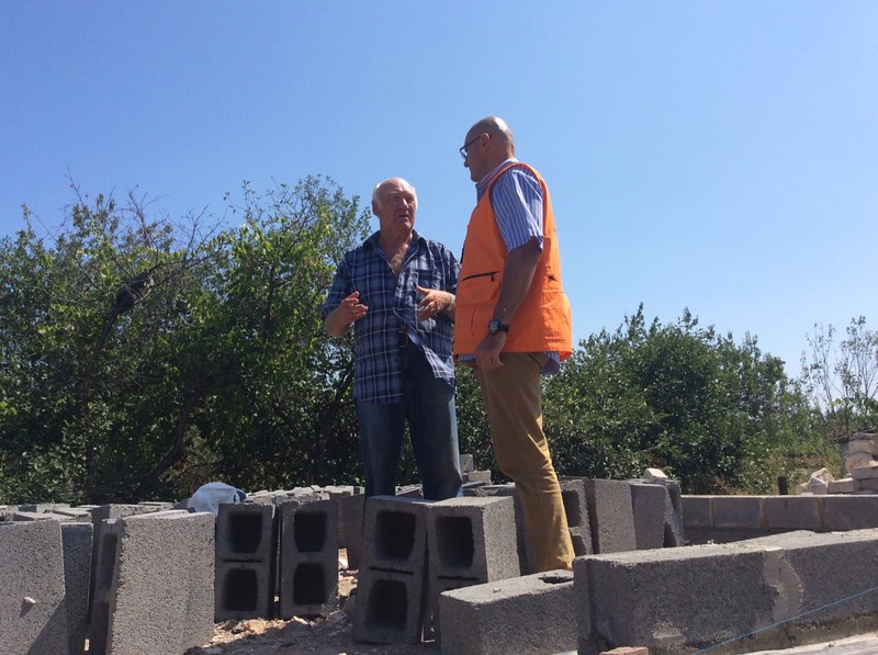 Constructing Core House in Frontline Popasna Town