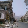 destruction of an entire street as a result of rocket and artillery fire.<br /> Civilians are being targeted by all sides of the conflict in Yemen. Over 3 million people have fled their homes as a result of fighting, and 2.2 million people remain displaced within Yemen. Photo: Marwan Al Sabri/NRC