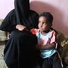 Faj Attan village - Lulu and her boys Laith (13) and Meyas (6)